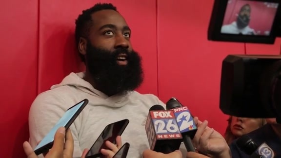Practice Interviews: James Harden 10/13/19