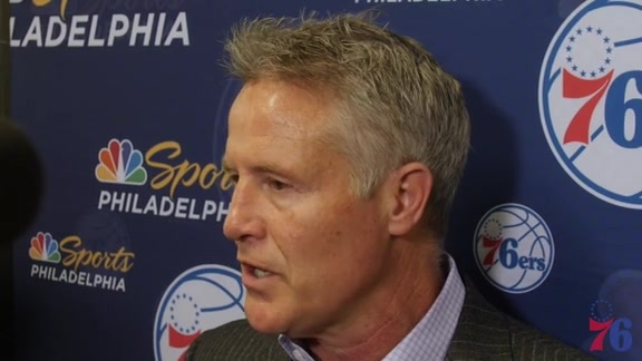 Postgame | Brett Brown at Nets (01.31.18)