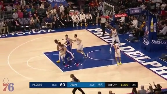Highlights | Joel Embiid vs Pacers (03.13.18)