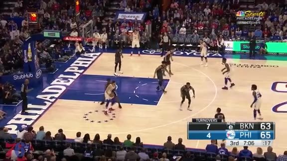 Highlights | Joel Embiid vs Nets (3.16.18)