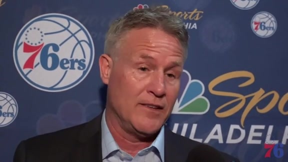 Postgame | Brett Brown at Hornets (4.1.18)