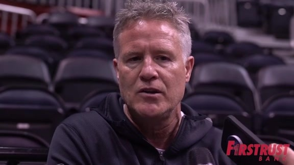 Shootaround | Brett Brown vs Hawks (4.10.18)