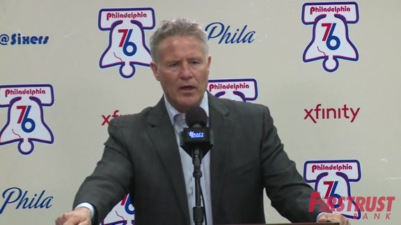 Postgame | Brett Brown vs Bucks (04.11.18)