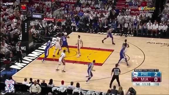 Game 4: Highlights   Joel Embiid at Heat (04.21.18)