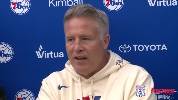 Playoff Practice | Brett Brown (04.13.18)