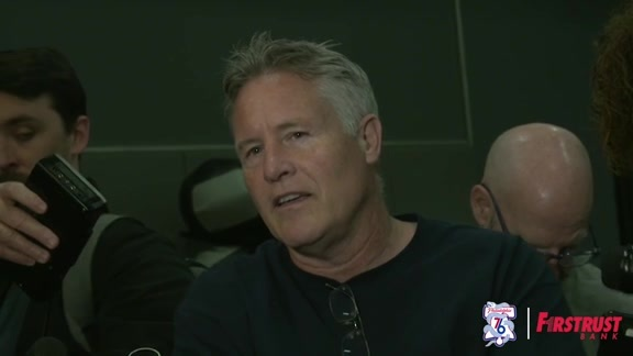Shootaround | Brett Brown vs Celtics (04.30.18)