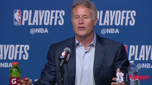 Postgame | Brett Brown vs Celtics (05.03.18)
