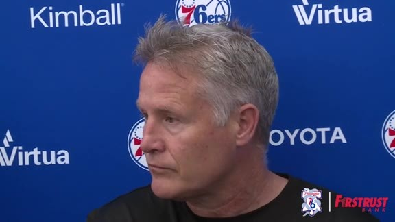 Playoff Practice | Brett Brown (05.04.18)