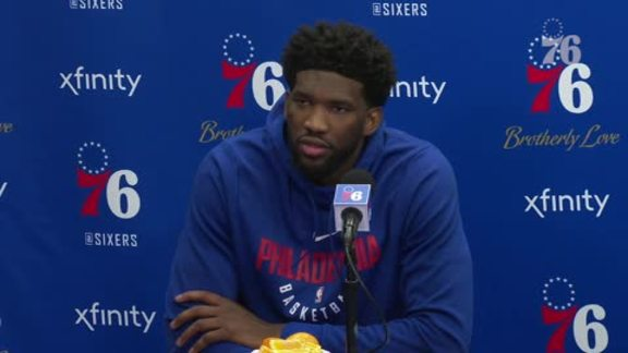 Joel Embiid | Postgame vs Wizards (1.8.19)