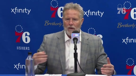 Brett Brown | Postgame vs Rockets (1.21.19)