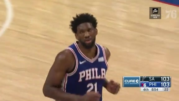 Joel Embiid | Highlights vs San Antonio Spurs (1.23.19)
