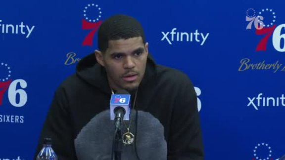 Tobias Harris | Postgame vs Celtics (3.20.19)
