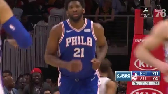 Joel Embiid | Highlights vs Atlanta Hawks (3.23.19)