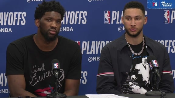 Joel Embiid and Ben Simmons | Postgame vs Nets (4.15.19)