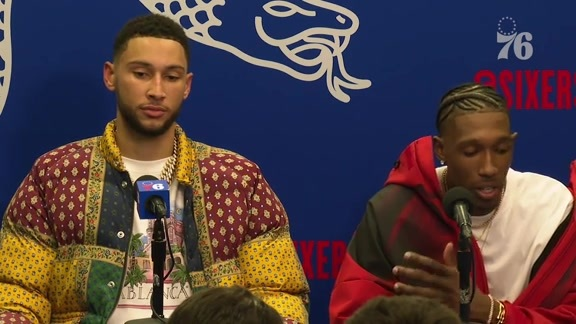 Ben Simmons and Josh Richardson | Postgame Media Availability vs Boston (10.23.19)