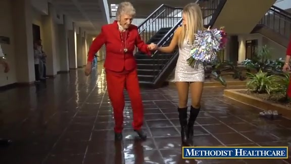 Coyote and Silver Dancers Say Happy Birthday to 95 Year Old Tap Dancing Great Grandmother