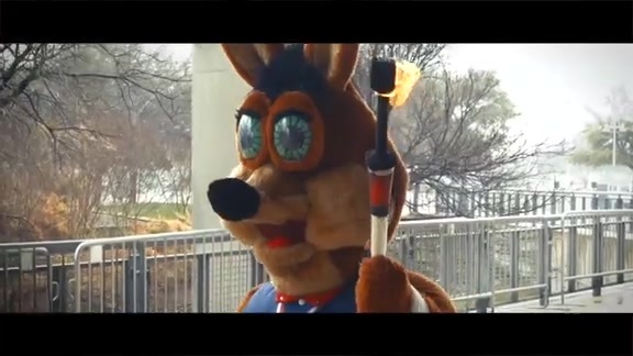 Coyote Carries Torch for Winter Games