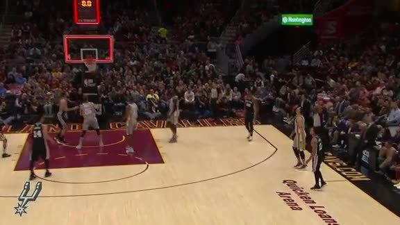Highlights - Spurs at Cavaliers 2/25