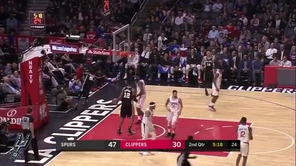 Highlights - Spurs at Clippers 4/3