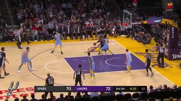 Highlights - Spurs at Lakers 4/4