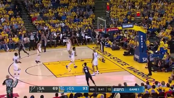 Highlights - Spurs at Warriors (Round 1 Game 1) 4/14