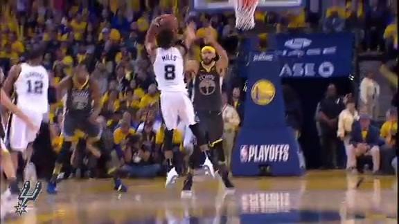 Highlights - Spurs at Warriors (Round 1 Game 2) 4/16