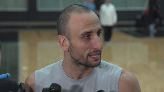 Manu Ginobili - Media Availability 4/18
