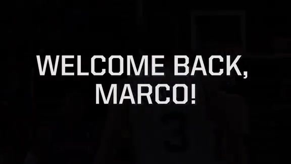 Welcome Back, Marco!