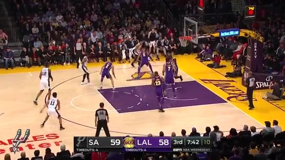 Highlights: Spurs vs. Lakers 12/5