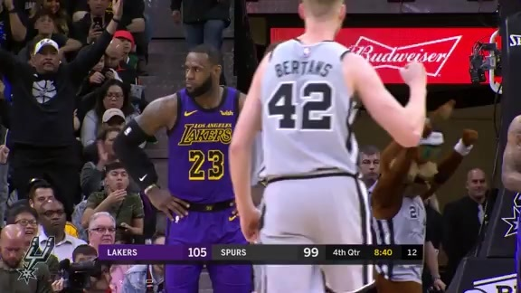 Highlights: Spurs vs. Lakers 12/7