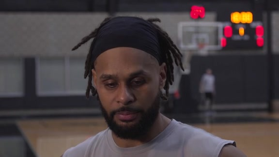 Patty Mills - Shootaround 3/20