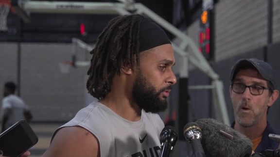 Patty Mills - Shootaround 3/30