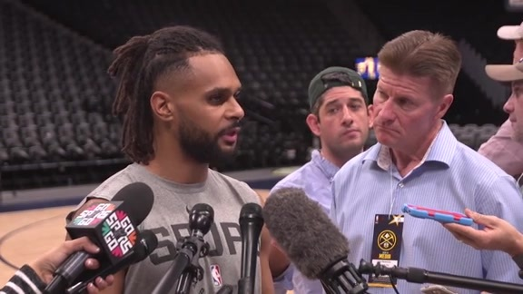 Patty Mills - Shootaround 4/16