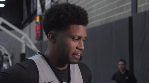 Rudy Gay - Shootaround 4/18