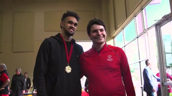 Derrick White Attends 2019 Special Olympics Breakfast With Champions