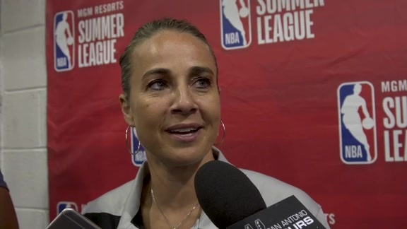 Becky Hammon - Las Vegas Summer League Postgame 7/10