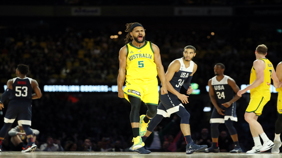 Patty Mills Leads Australia to First-Ever Win vs. USA