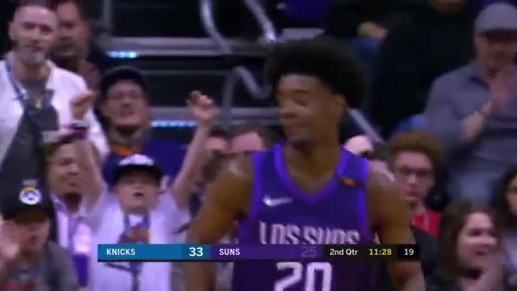 Jackson with the Steal and Slam Against the Knicks