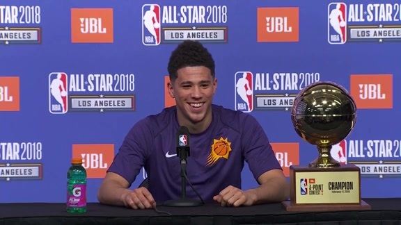 Devin Booker Press Conference: JBL Three-Point Contest