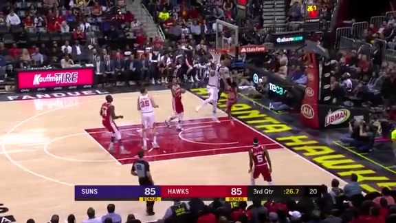 Marquese Chriss with the 'Nasty Rejection' vs Hawks