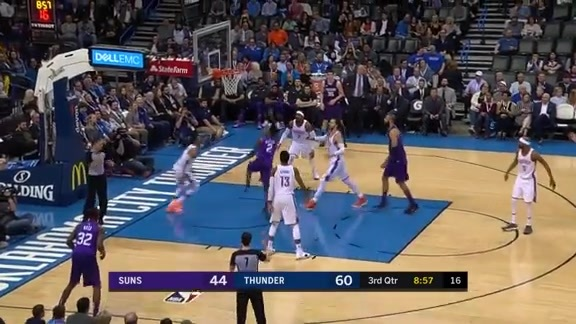 Elfrid Payton Hits And-One While Falling to Floor