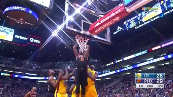 Marquese Chriss Soars in For Putback Dunk vs Warriors