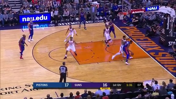 Marquese Chriss Blocks Andre Drummond at the Rim