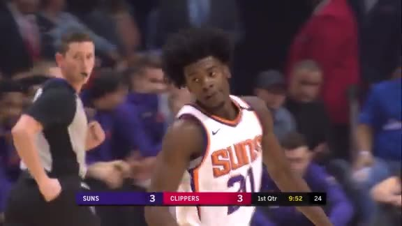 Josh Jackson Goes Up-and-Under Against Blake Griffin