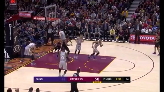 Quese Finishes with Powerful Dunk