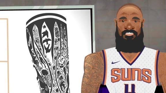 Suns Shorts: Tyson Chandler Tattoo