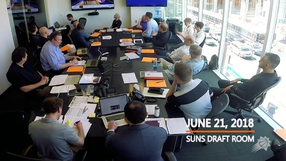 2018 Suns Draft War Room