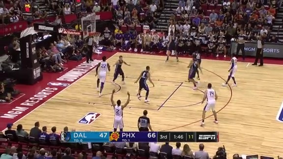 Mikal Bridges Knocks Down a Three-Pointer with a Hand in His Face
