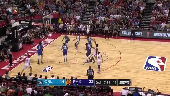 Elie Okobo with the Behind-The-Back Pass to Ayton