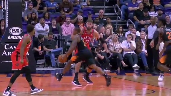 Canaan Steps Around Valanciunas On His Way to Basket